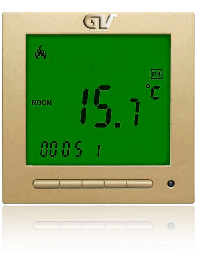 Gv Digital Programmable Thermostat Gold