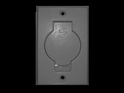 Round Door Inlet Valve  –  Dark Grey