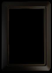 Round Door Trim Plate – Black